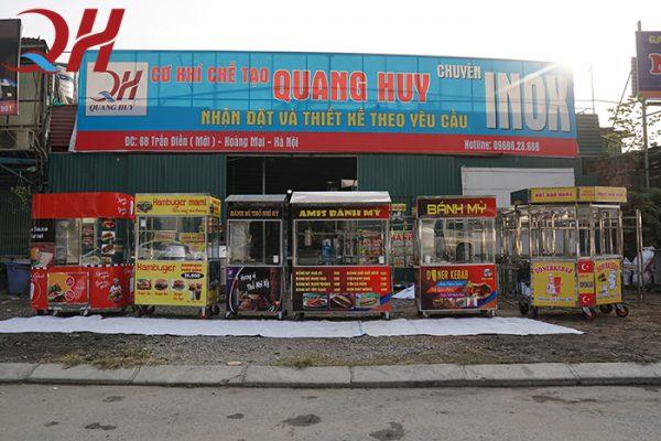 Quang Huy thương hiệu sản xuất, phân phối xe bán gà rán uy tín
