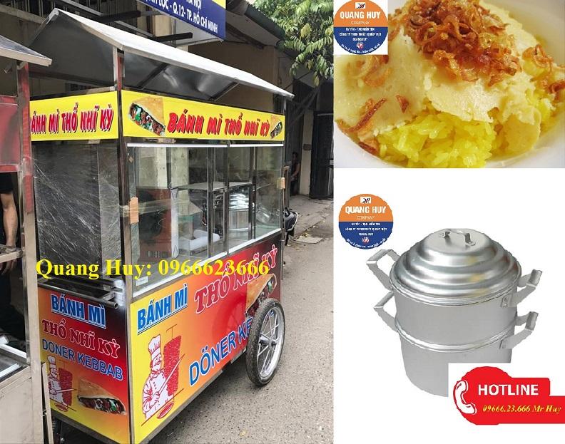 Xe bán xôi bánh mì kết hợp do Quang Huy thiết kế và sản xuất