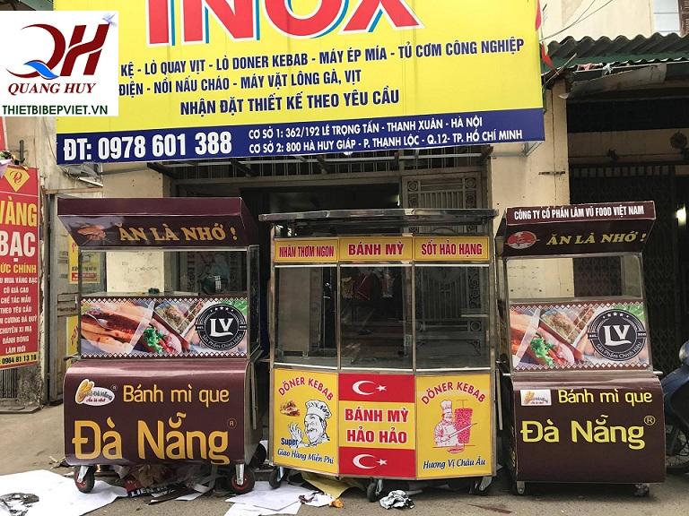 Xe bánh mì que tại Quang Huy có rất nhiều mẫu mã kích thước để bạn có thể chọn lựa