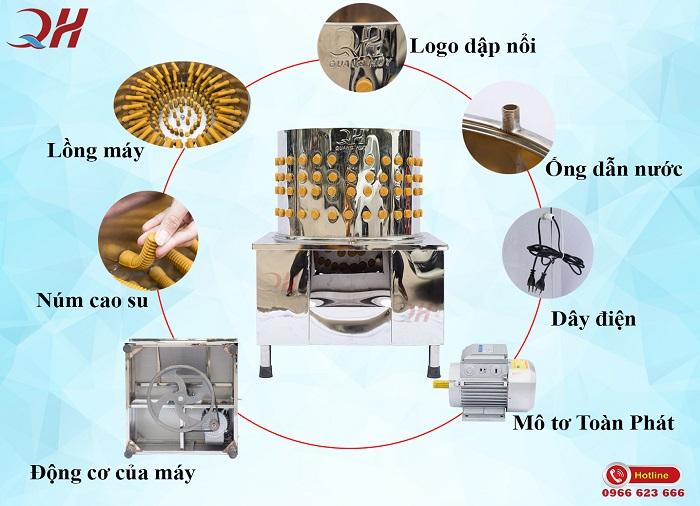 Máy vặt lông gà Quang Huy chất lượng cao