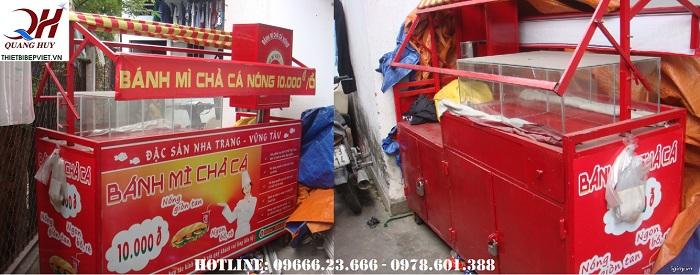 Có khá nhiều mẫu xe bánh mì chả cá tại Quang Huy