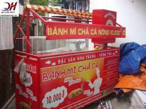 Xe bánh mì chả cá 1m5 Quang Huy