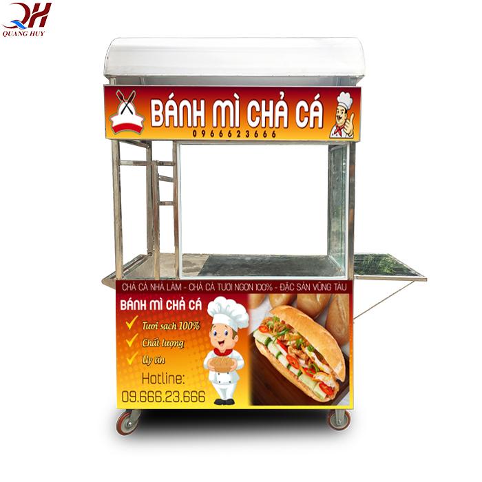 Tủ bán bánh mì chả cá mẫu mới năm 2020 của Quang Huy