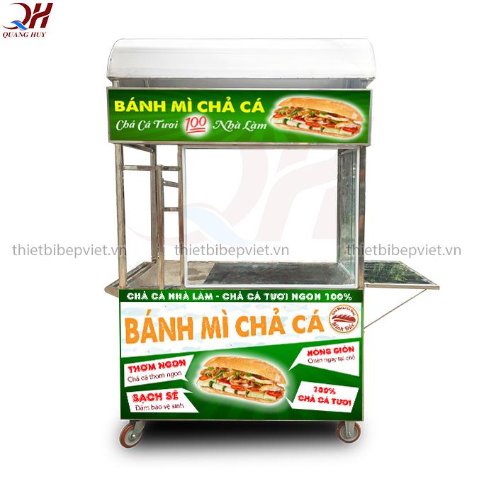Xe bánh mì chả cá mẫu mới nhất năm 2020 của Quang Huy