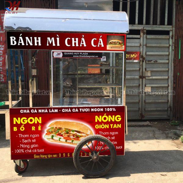 Xe bánh mì chả cá do Quang Huy sản xuất