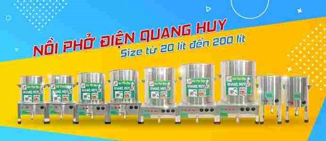 Các mẫu nồi nấu phở điện dung tích từ 20 đến 200l
