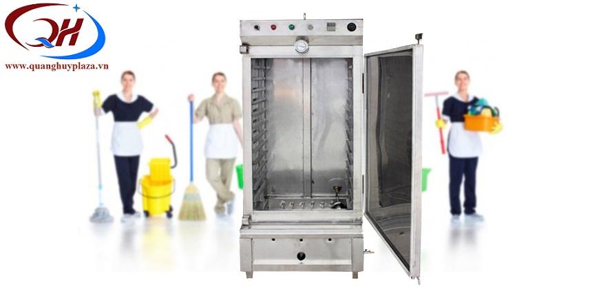 Tủ cơm công nghiệp rất dễ dàng trong việc vệ sinh