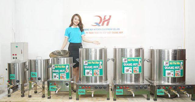 Nồi nấu phở điện Quang Huy giá bán tận gốc tại xưởng