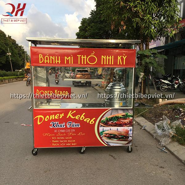 Xe bán xôi bán bánh mì thổ nhĩ kỳ 2m do Quang Huy sản xuất