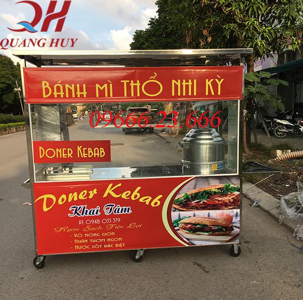 Xe bán xôi bán bánh mì 2m được sản xuất và phân phối bởi Quang Huy