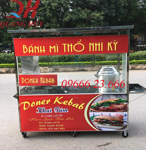 Xe bán xôi bán bánh mì thổ nhĩ kỳ 2m với thiết kế rộng rãi