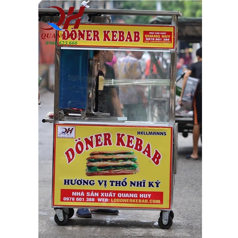 Tủ bánh mì Doner Kebab inox Quang Huy