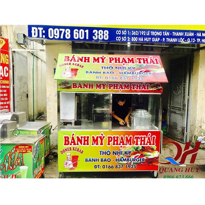 Tủ kính bán bánh mì Doner Kebab