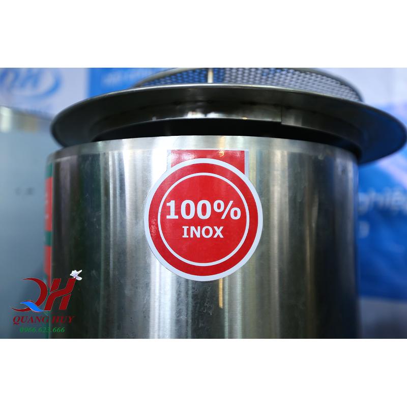 Bộ nồi phở inox được làm từ 100% inox chất lượng cao