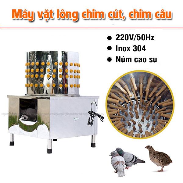 Máy vặt lông chim cút, chim câu Quang Huy