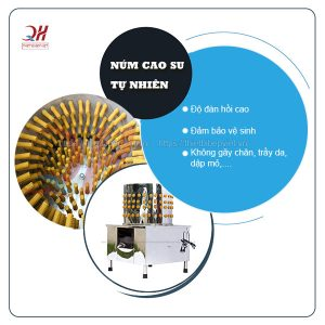 Núm cao su máy vặt lông chim cút Quang Huy
