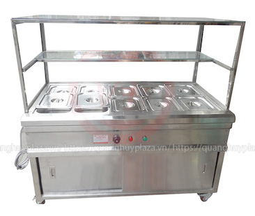 Bàn giữ nóng thức ăn cao cấp được làm từ inox chất lượng cao