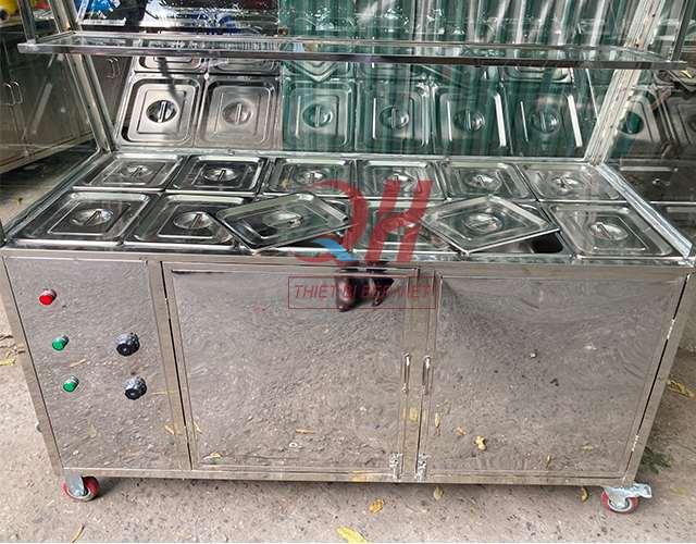 Inox tủ giữ nóng thức ăn