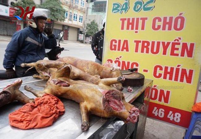 Mỗi kg thịt chó, người bán đều lãi với số tiền nhất định