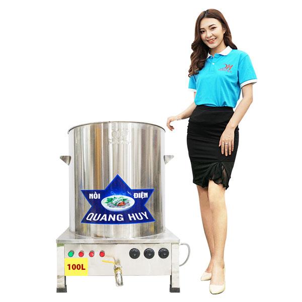 Mẫu nồi điện nấu phở Quang Huy 100 lít