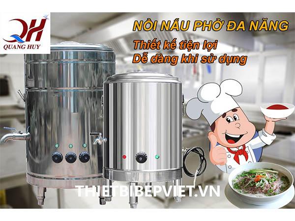 Nồi nấu phở điện chính hãng Quang Huy nấu phở siêu tốc