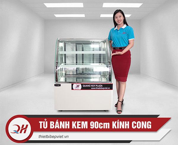 Tủ bánh kem 90cm kính cong Quang Huy