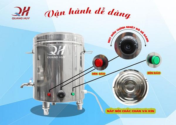 Nồi nấu phở điện Quang Huy - vận hành dễ dàng - ngày càng hiện đại!