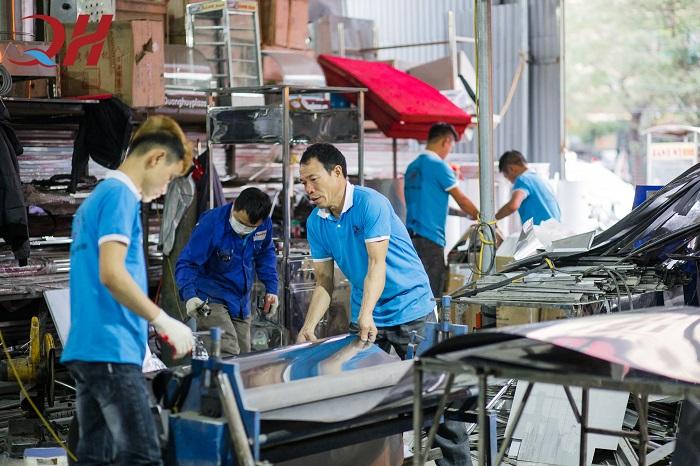 Những sản phẩm của Quang Huy được sản xuất ngay tại xưởng