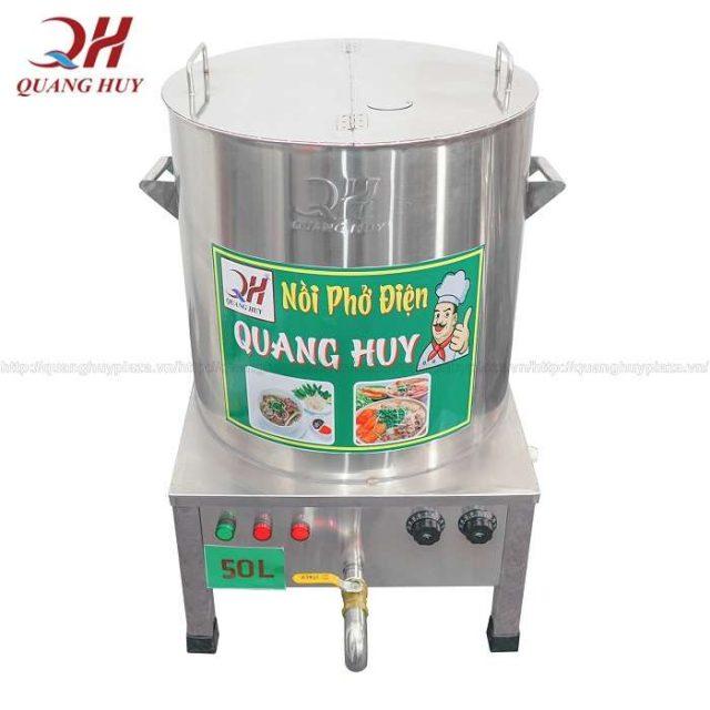 Nồi nấu phở điện 50l làm từ chất liệu inox 304