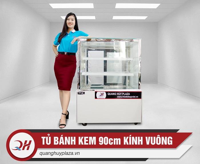 Tủ trưng bày bánh kem kính vuông sẽ là sự tiện lợi nhất cho bạn