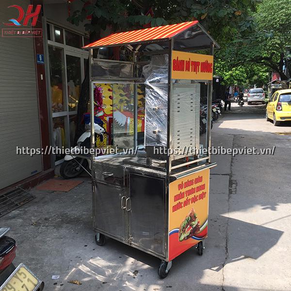 Đặc điểm cấu tạo xe bán bánh mì thịt nướng của Quang Huy