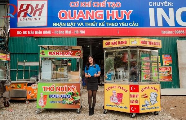 Quang Huy sản xuất và phân phối xe bán hàng rong uy tín giá rẻ