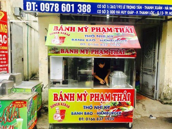 Mẫu xe xôi bán bánh mì doner kebab thổ nhĩ kỳ