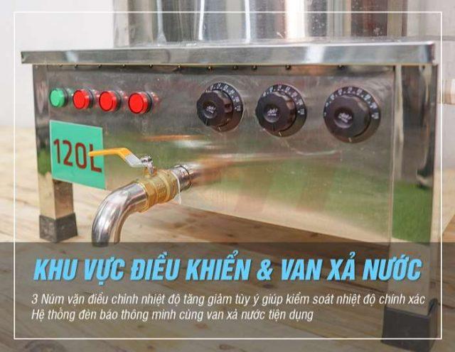Van xả nồi điện nấu phở inox Quang Huy