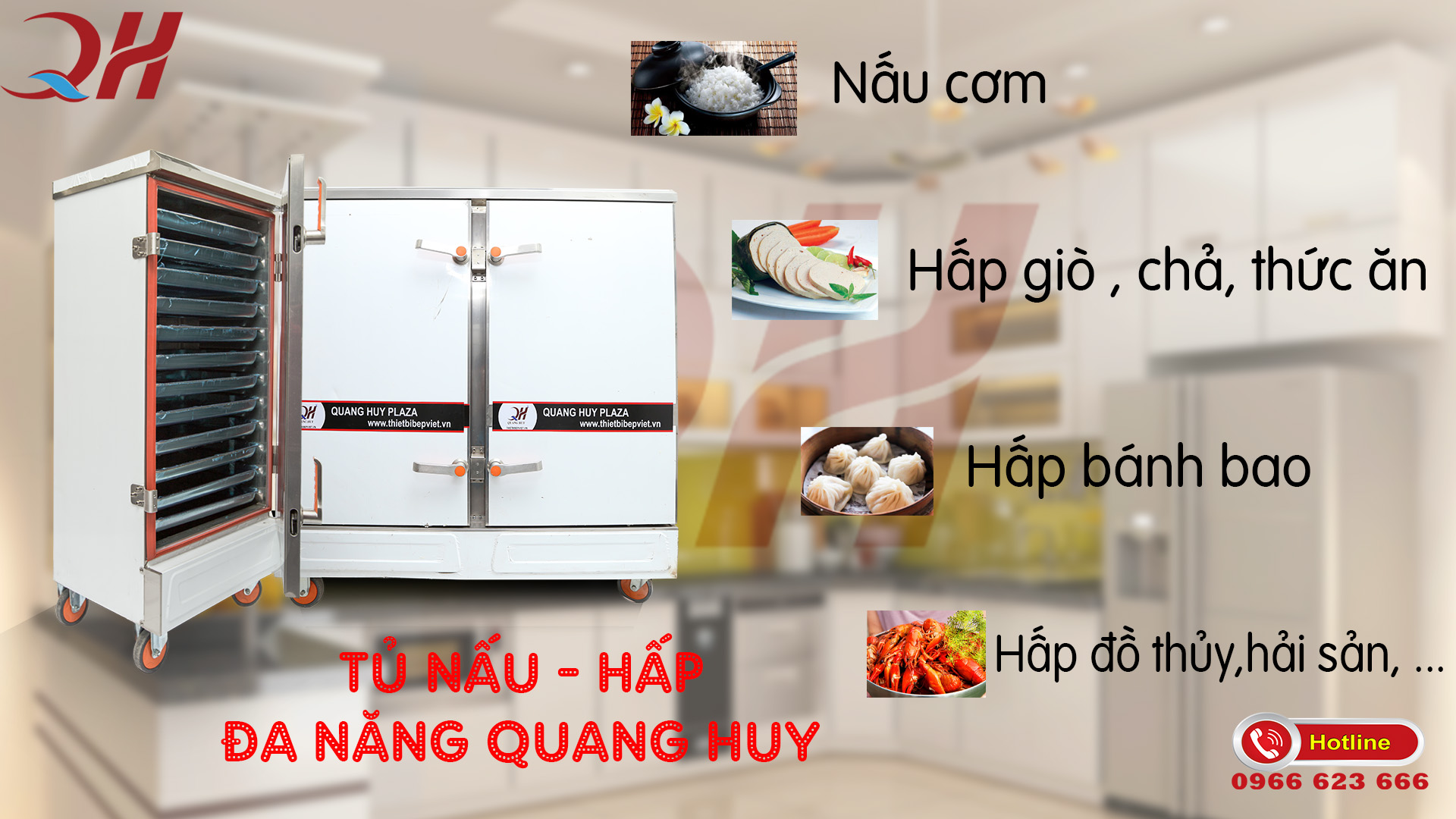 Hướng dẫn mua tủ nấu cơm công nghiệp 6 khay tại hà nội