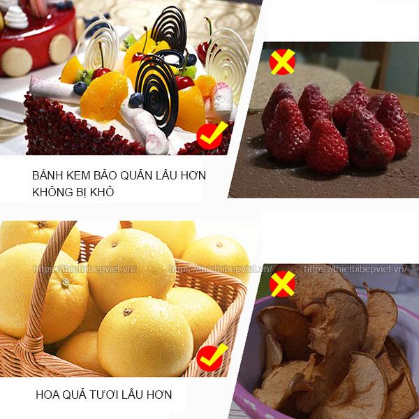 Bảo quản hoa quả, bánh kem lâu hơn