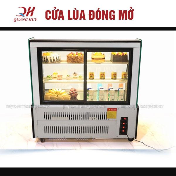 Cửa lùa đóng mở tủ trưng bày bánh kem