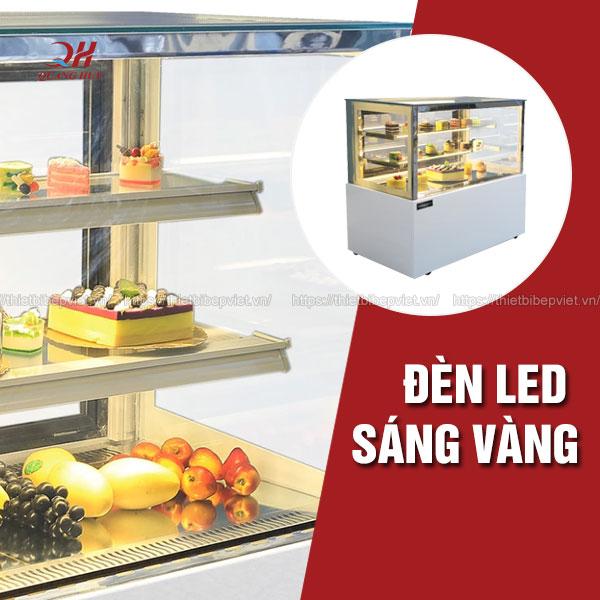 Đèn led tủ bánh kem kính vuông 3 tầng Quang Huy