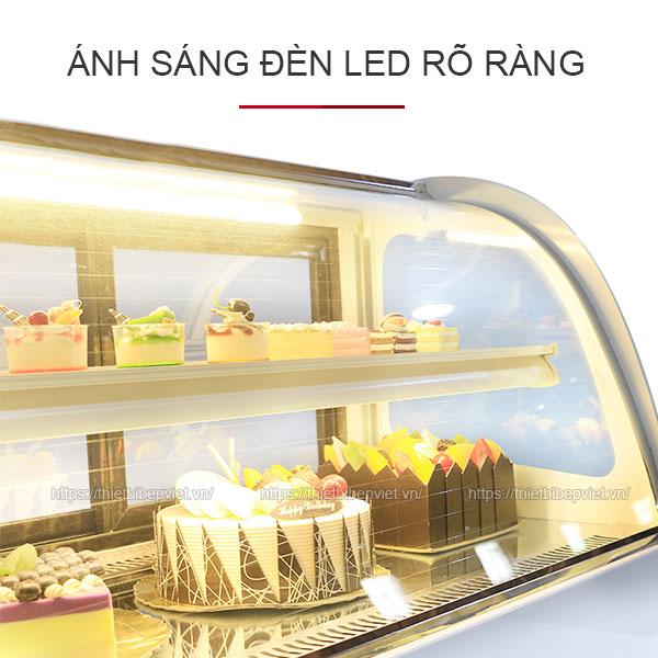 Đèn led tủ bánh kem rõ ràng