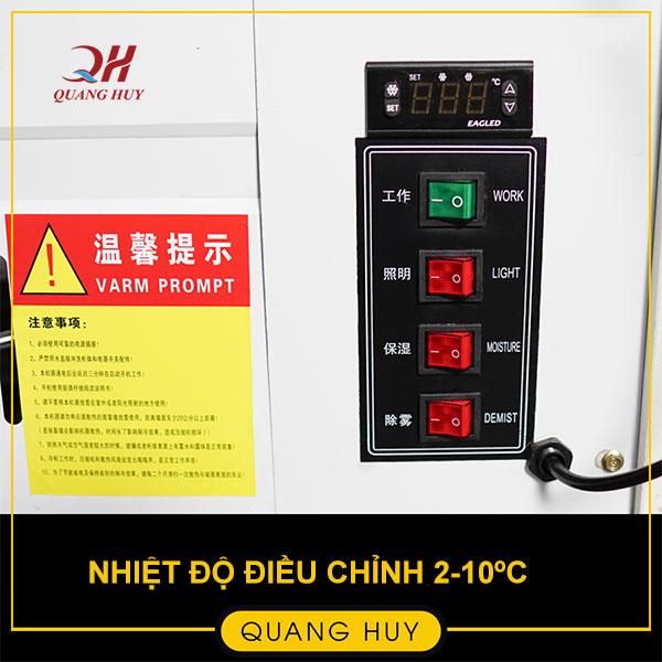 Điều chỉnh nhiệt độ dễ dàng từ 2-10 độ C