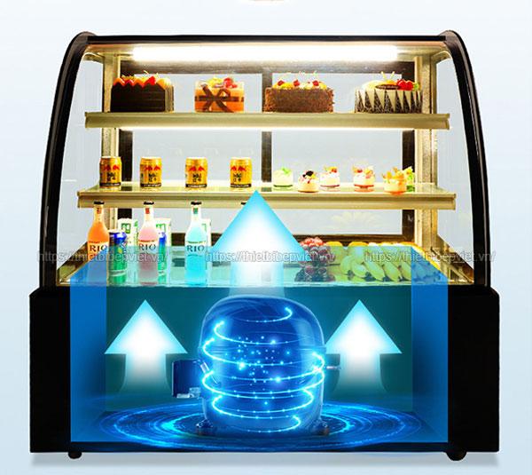 Hệ thống làm lạnh tủ bánh kem Quang Huy