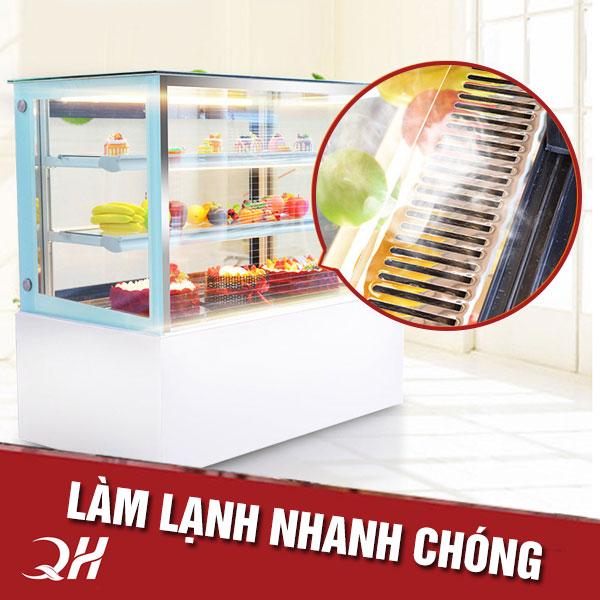 Hệ thống làm lạnh tủ trưng bày bánh kem