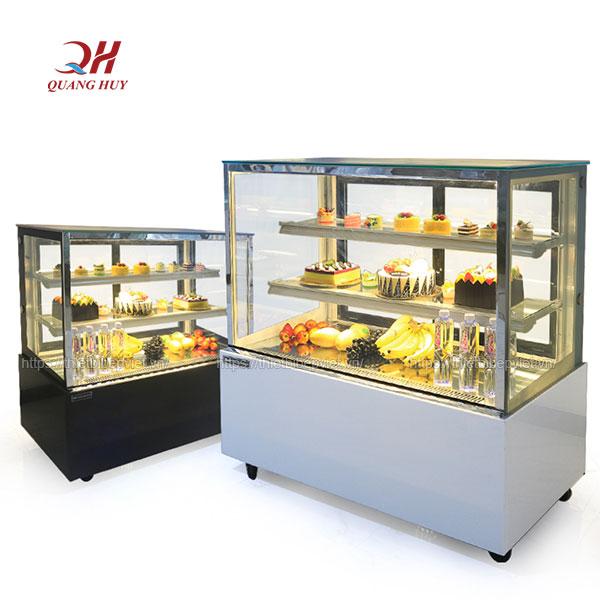 Tủ bánh kem 3 tầng 1m5 kính vuông Quang Huy