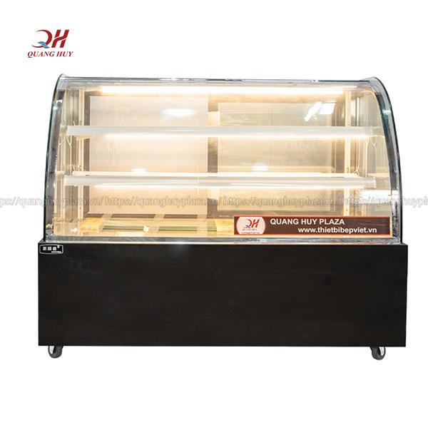 Tủ bánh kem 3 tầng kính cong Quang Huy
