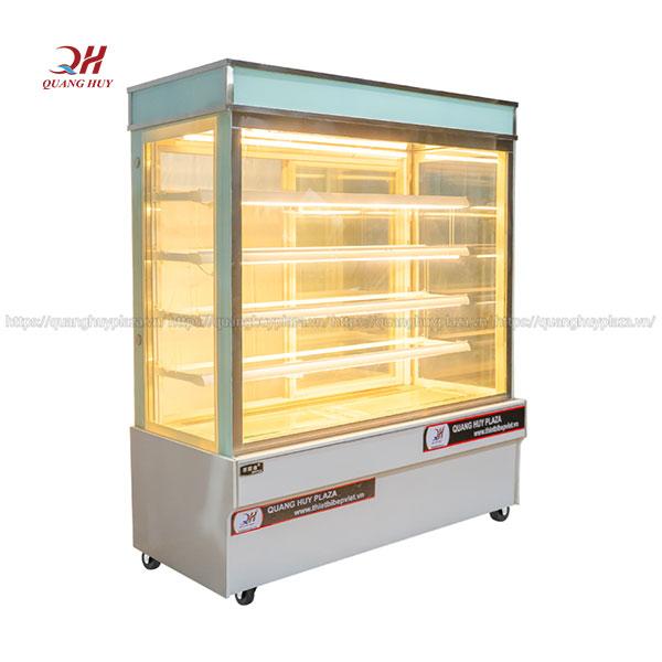 Tủ trưng bày bánh kem 5 tầng 1m5 kính vuông