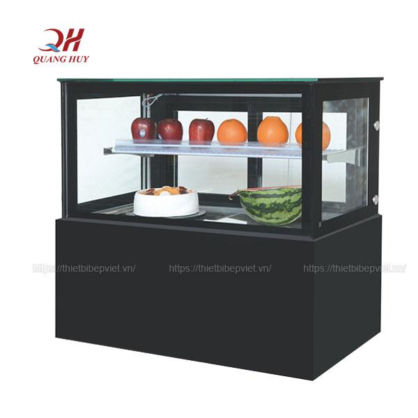 Tủ trưng bày bánh kem ĐỂ BÀN kính vuông 1m2