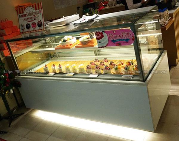 Tủ bánh kem để bàn mini vuông 1m2 quang huy