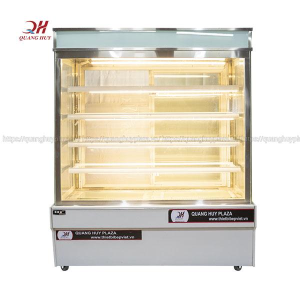 Tủ bảo quán bánh kem 5 tầng 1m5 kính vuông Quang Huy