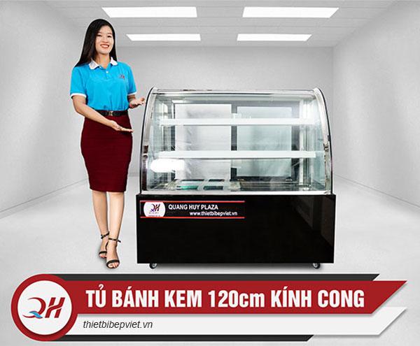 Tủ trưng bày bánh kem 1m2 kính cong