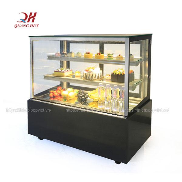 Tủ bánh kem, bánh sinh nhật 3 tầng 1m5 kính vuông